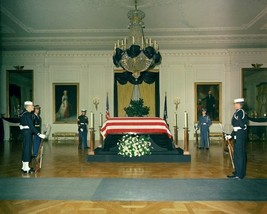 President John F. Kennedy lies in repose at the White House New 8x10 Photo - $8.81