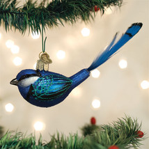 Fairy Wren Glass Ornament - $16.95