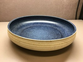 Large Hand Made Blue and White Stoneware Bowl Centerpiece - $148.49