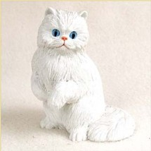 PERSIAN WHITE CAT Figurine Statue Hand Painted Resin Gift - $17.25