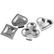 Large Aluminum Card Suit Snack Dishes - $37.21