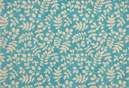 "Set of 4 Sack Woven Fabric Kitchen Placemats, 13"" x 19"", LEAVES ON BLUE, HC - $17.81"