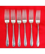 6X Dinner Forks Oneida Queen Bess II Silverplate 1946 Tudor Flatware 7 1... - $45.54