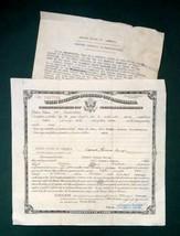 LOT 1911 & 45 antique NATURALIZATION PAPER samuel,edward savage,philadel... - $34.95