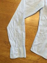 Abercrombie Girl's Blue & White Striped Long Sleeve Dress Shirt - Size XL image 5