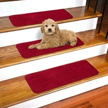 """Ottomanson SST2610-13 Softy Stair Tread Area Rugs, 9"""" X 26, Red - $56.14"""