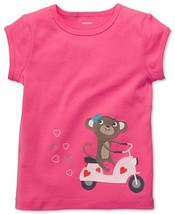Carter's baby girls pink top with monkey on the bike size 6 (#B2) - $9.99