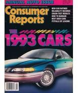 ORIGINAL Vintage 1993 Consumer Reports Magazine Cars Issue - $14.84