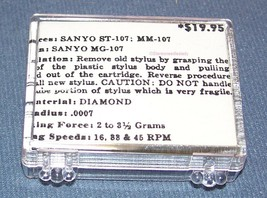 TURNTABLE STYLUS NEEDLE for SANYO FISHER ST-107 MG-107 AN-36 708-D7 image 2