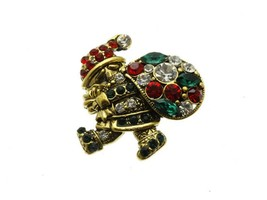 Crystal Stone Paved Santa Claus Pin and Brooch - $11.95+