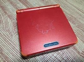 Game Boy Advance SP Red Charizard Edition Pokémon Center Limited Nintend... - $97.33