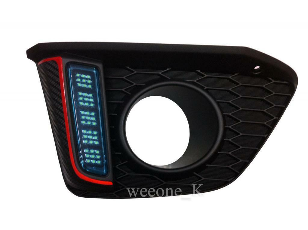 FOG LIGHT COVER L.E.D LED DAYLIGHT FOR HONDA JAZZ / FIT 2014 2015