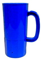 6 Large Blue 22 Oz Beer Mugs Made USA Lead Free Beer Steins Tops in Quality - $29.56