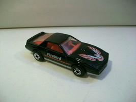 Vintage 1982 Matchbox Pontiac Firebird Se Die Cast Car Black - $12.69
