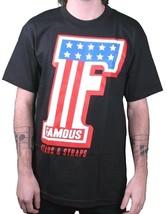 Famous Stars & Straps Black F-One American Flag Stripes T-Shirt Small 105185 NWT