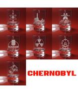 Set of 6 Shot Glasses Chernobyl, Atom, Reactor, 3.6 Roentgen, Radiation - $39.99