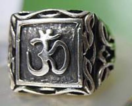 LOOK Solid Sterling Silver .925 Celtic Om Ganesh Ring Hindu AUM Jewelry New