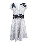 Aidan Mattox Ivory Black Embroidered Dress Size 6 NWT  - $59.39