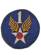 Original Wwii Usaaf U.S. Army 1st First Air Force White Back Patch No Glow - $18.60