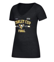 Medium 8-10 Women's Pittsburgh Penguins Shirt NHL Stanley Cup Finals Arch Tee