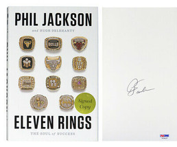 Phil Jackson Signed 'Eleven Rings' Hardcover Book - PSA/DNA - £150.52 GBP