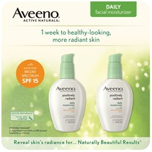 Aveeno Positively Radiant Daily Moisture with SPF 15 (4 oz./ 120 ml, 2 pk) - $51.99