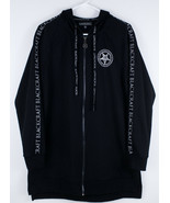 Black Craft Cult Long Hoodie Sweatshirt Women's Sz M Witching Hour Cresc... - $29.99