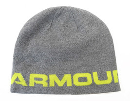 NEW MENS UNDER ARMOUR UA  WORDMARK GREY BEANIE HAT ONE SIZE - $22.99
