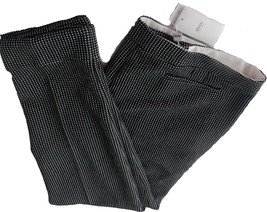 NWT ARMANI COLLEZIONI 52/16 pants trousers slacks black/white heavyweigh... - $363.75