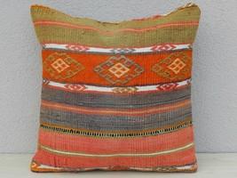 18'' X 18'' Colorful Large Turkish Kilim Pillow Cover 45x45cm Handwoven ... - $859,19 MXN