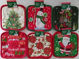 Christmas Towel Oven Mitt Potholder Select Frosty Santa Snowman Snowflak... - $2.99