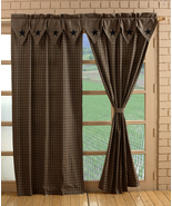Vintage Star Black Panel Pair Curtain Farm House - $99.99
