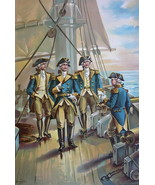 US NAVY in 1776 Commander-in-Chief of Fleet Uniforms - COLOR Litho Print - $18.90