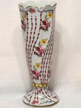 Italian Elios Porcelain Vase, Vintage, Scallope... - $32.00