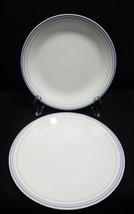 """Lot 2 Vintage Corelle Moonglow Luncheon white Plates 8.5"""" purple rim  - $18.67"""