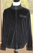 Coogi XXL Black Full Zip Track Jacket Embroidered Velvet Patent Leather ... - $121.12
