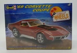 Revell '69 1969 Chevy Corvette Coupe California Wheels Brand New Skill 2... - $39.48