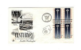 Fdc ENVELOPE-SEATTLE World's FAIR-CENTURY 21 Exposition BL4-1962 Art Craft BK12 - $2.21