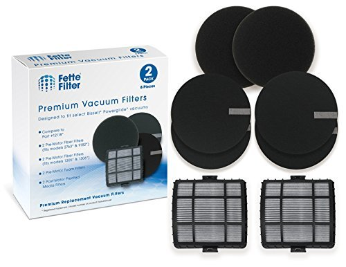Fette Filter - Filter Pack Compatible with Bissell Powerglide 12118 Vacuum Clean