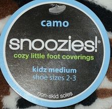 Snoozies Brand KCM005 Pink Dark Camouflage Girls House Slippers Size M image 4