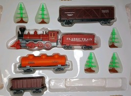 Kids Stuff Classic Train Set And Trees 9 Pieces Train Does Not Work - $7.73