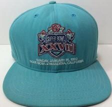 Vtg New Era Super Bowl XXVII Snapback Hat 1993 Rose Bow Team NFL Pro Design - $26.97