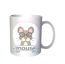 Smart Mouse with spectacles Novelty 11oz Mug o94 - $203,52 MXN