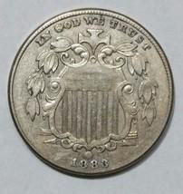 1883 SHIELD NICKEL 5¢ COIN Lot# MZ 4690