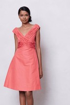 NWT $238 ANTHROPOLOGIE CORAL RUCHED CROSSING DRESS by MIRROR of VENUS 0 - $104.99