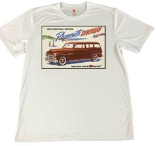 Plymouth Suburbon Car With 101 Uses Wicking T-Shirt w American Flag Car ... - $14.80+