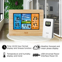 Wireless Weather Station:Forecast,Temperature,Humidity,Alarm Clock,Barom... - $33.93