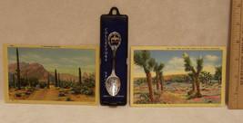 Arizona Souvenir Lot of 2 Postcards and a Spoon Joshua Tree  Desert Road - $9.89