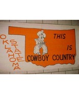 """Oklahoma State Cowboys This Is Cowboy Country 24"""" x 45"""" Woven Wall Floor... - $34.64"""