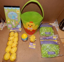 Easter Mix Lot 7Items Basket Hopping Chick Paper Grass Stickers Eggs Tattoo 162R - $12.49